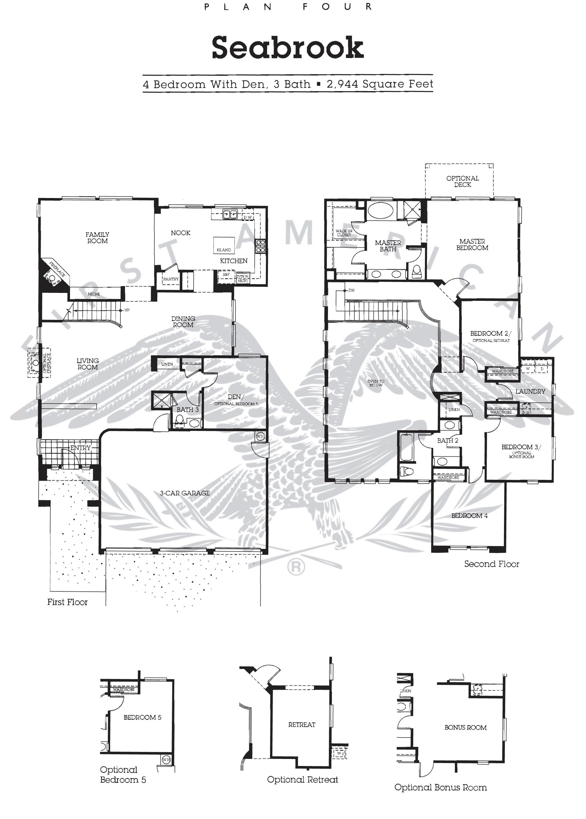 nantucket at calavera hills floor plan for residence 4